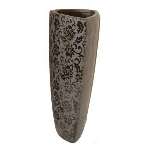 Black flowers vase