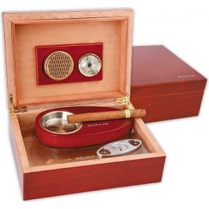 Кутия за пури с овлажнител и хидрометър