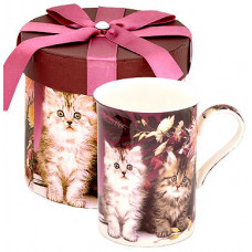 Porcelain Cup with Cats