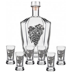 Decanter Set & 6 Shot Glasses
