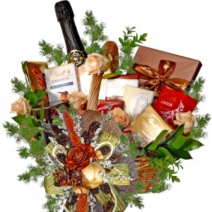 LINDT and wine - Grand gourmet basket