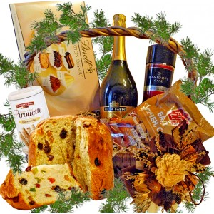 Happy holiday gourmet basket