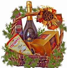 Holiday wishes basket