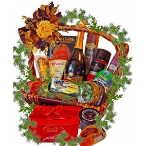 A gourmet feast basket