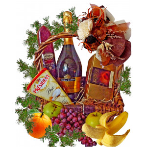 Holiday delight gift basket