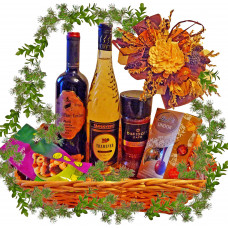 Words of thanks - gourmet basket