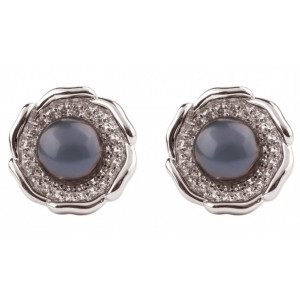 Asia - Black Pearl Earrings
