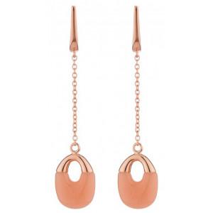 Classy Lady - earrings, fluorescent stone