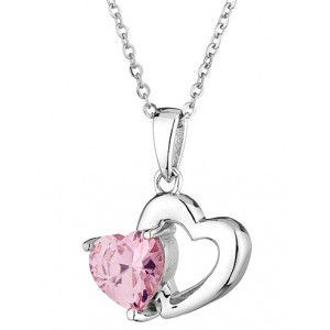 Vivian - Heart and zirconium necklace