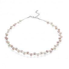Pink & White Pearls Necklace