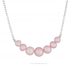 Gabby - Necklace of pink pearls