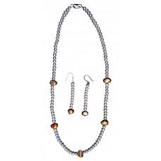 Нимфа - Огърлица и обеци от култивирани перли