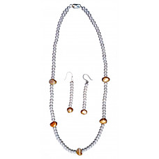 Nymph - White Pearl Necklace and Earring