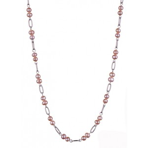 Julia - Pearls and stainless steel pendant necklace