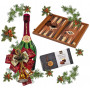 Men's Gift Set and Wood Backgammon Vertini