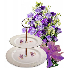 Claudia # 2 - Flowers and Cake Plate