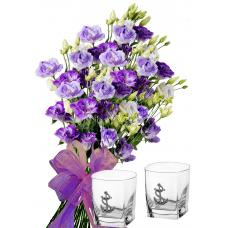 Claudia # 3 - Bouquet  Whiskey Glasses