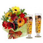 Spring time # 1 - Flowers and 2 Cocktail Glasses