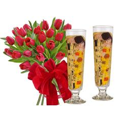 Monica # 11 - Tulips and Cocktail Glasses