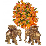 Emma # 5 - Bouquet and Elephant Candlesticks
