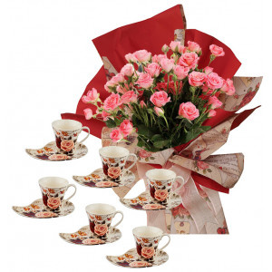 Rosabelle # 1 - Bouquet and Coffee Set