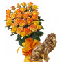 Alegra # 10 - Rose Bouquet  and Lion statuette