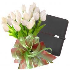 Bianca # 10 - Tulip bouquet and Pierre Cardin Tablet Case