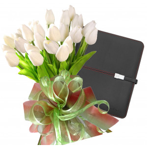 Bianca # 10 - Tulip bouquet and Pierre Cardin Tablet Case