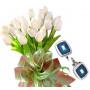 Bianca # 12 - Tulip bouquet and Cufflinks blue