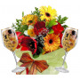 Spring time # 3 - Flowers and Red Wine Glasses