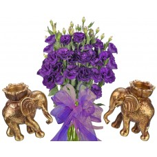 Gabriella # 1 - Flowers and Elephant Candlesticks