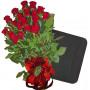 Red roses & Organizer Set Pierre Cardin
