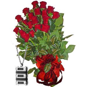 Red roses & Men's Medallion