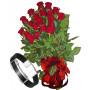 Red roses & Men's Bracelet