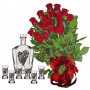 Red roses & Decanter Set