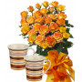 Alegra # 2 - Rose Bouquet and Set of 2 cups