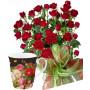 Saskia # 6 - Roses bouquet and Porcelain bowl
