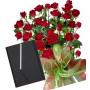 Saskia # 7 - Rose bouquet and Organizer Pierre Cardin