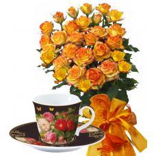 Alegra # 13 - Rose Bouquet  and Tea set
