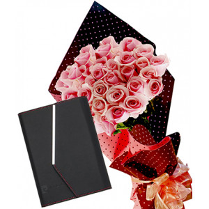 Pretty in pink # 1 - Roses and Organizer Pierre Cardin