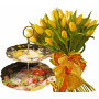 Giselle # 6 - Tulip bouquet & 2 Tier Cake Plate - Victorian Garden