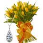 Giselle # 9 - Tulip bouquet & Blue Flowers Necklace