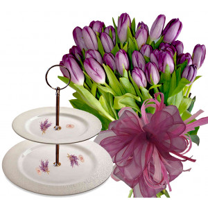 Natalia # 2 - Flowers & 2 Tier Plate