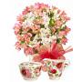 Aurora # 5 - Flower bouquet and Sugar and Creamer Set