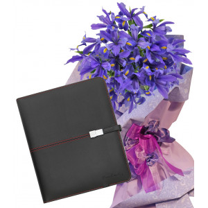 Irises # 2 - Flowers and Pierre Cardin Tablet Case