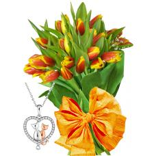 April # 1 - Tulips and Necklace