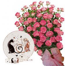 Geraldine # 3 - Roses and Cake plate