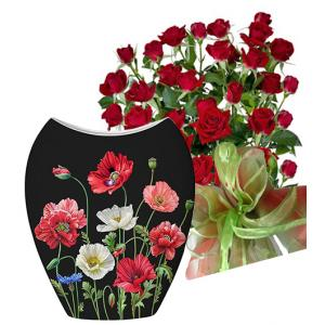 Saskia # 1 - Roses and Vase