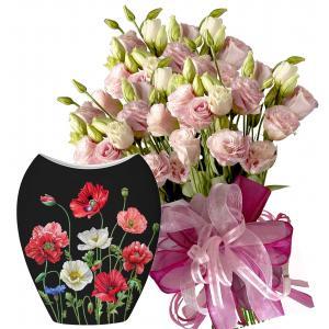 Allison # 1 - Bouquet and Vase - Poppies