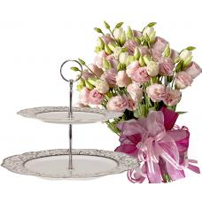 Allison # 2 - Bouquet and 2 Tiers Cake Stand
